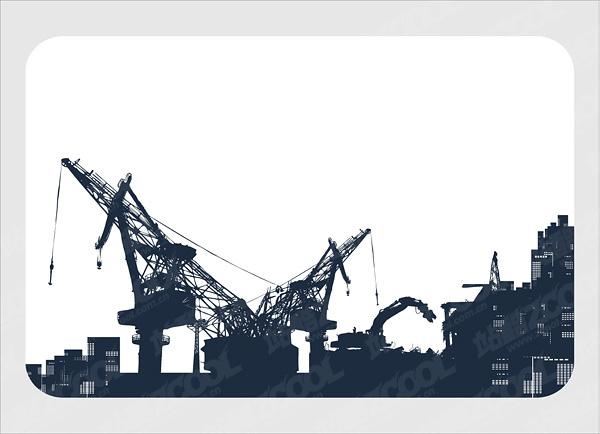 free vector Crane on sea  Port
