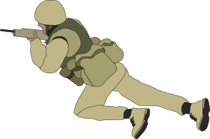 free vector Crawling Soldier clip art