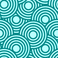 free vector Crazy Circles Free Seamless Pattern