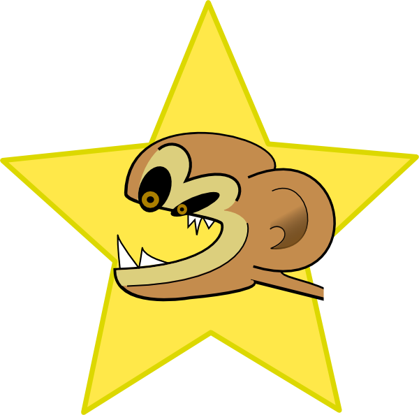 free vector Crazy Monkey clip art