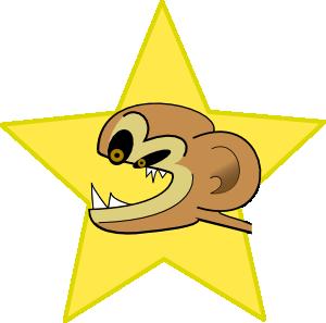 free vector Crazy Monkey clip art