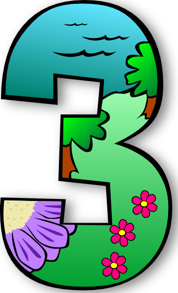 free vector Creation Days Numbers clip art