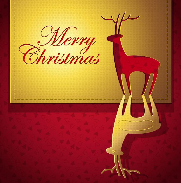 free vector Creative christmas cards 02 vector