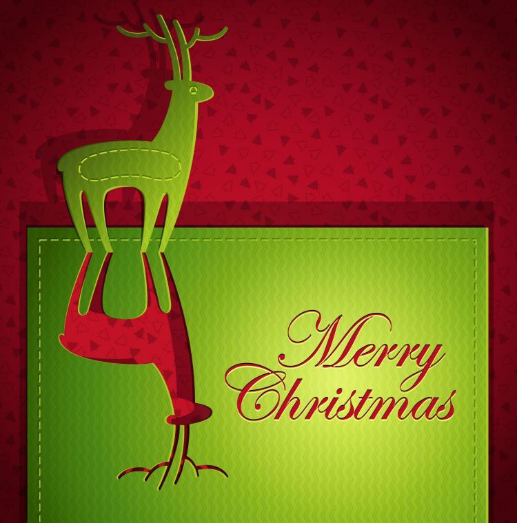 creative christmas cards 04 vector free vector 4vector
