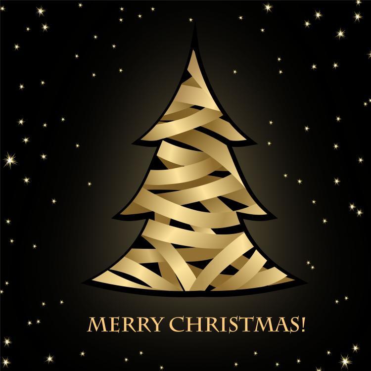 free vector Creative christmas tree 01 vector