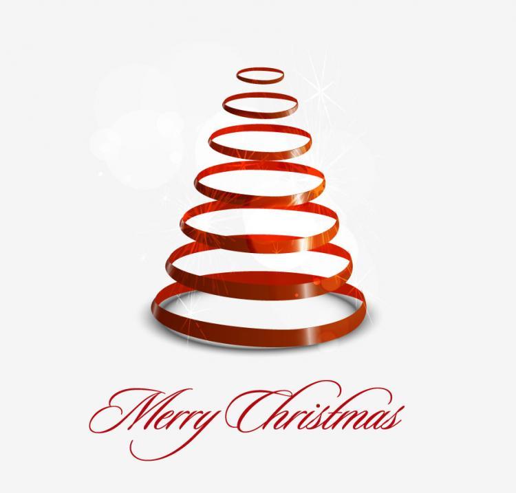 free vector Creative christmas tree 05 vector