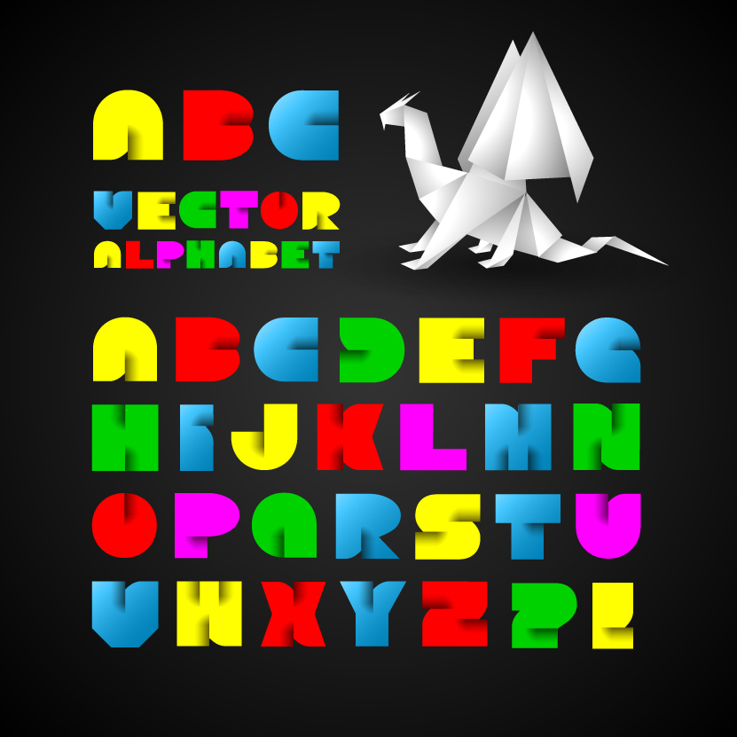 free vector Creative letters 01 vector