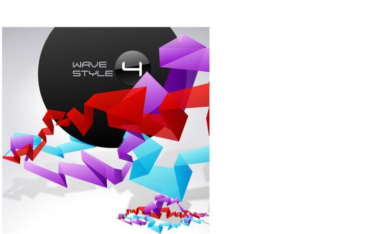 free vector Creative origami design background template vector 2