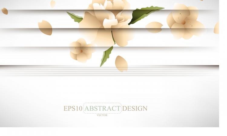 free vector Creative shutters style floral background vector