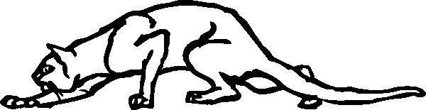 free vector Creeping Cat clip art