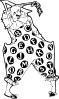 free vector Creepy Alphabet Clown clip art