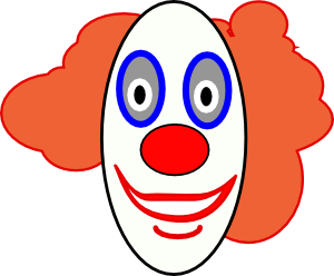 free vector Creepy Clown Face clip art