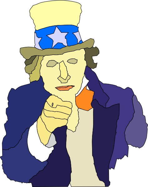 free vector Creepy Uncle Sam clip art