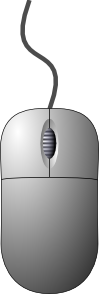 free vector Crispy Computer Mouse Top Down View clip art