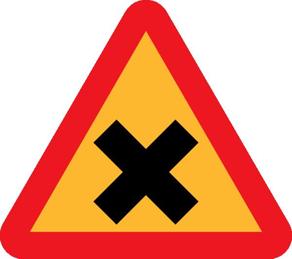 free vector Cross Road Sign clip art