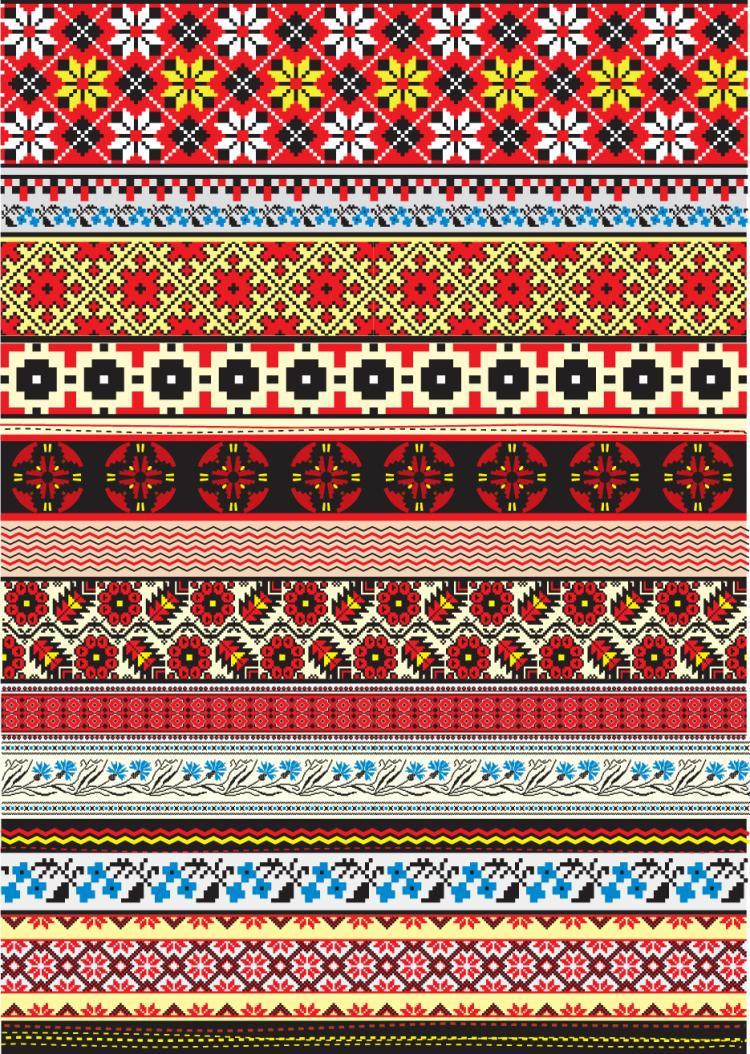 free vector Cross stitch patterns 06 vector