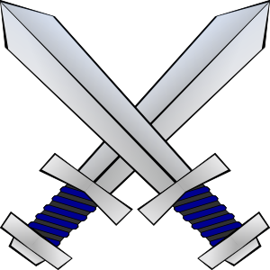 free vector Crossed Swords clip art