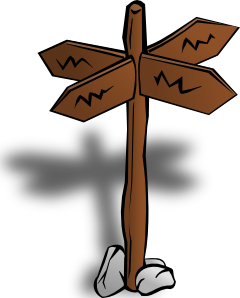 free vector Crossroads Sign clip art
