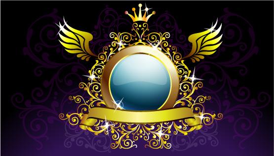 free vector Crown pattern wings