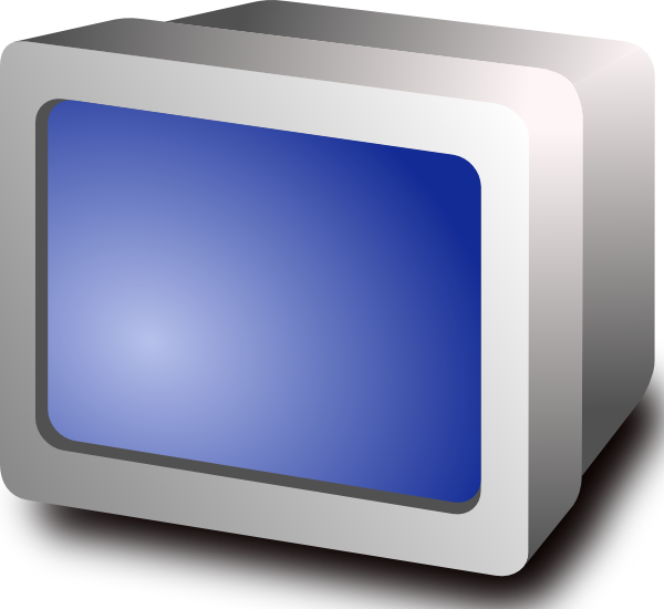 free vector Crt Display clip art