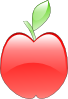 free vector Crystal Apple clip art