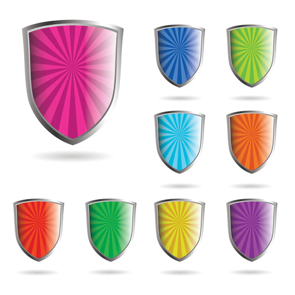 free vector Crystal shield style vector