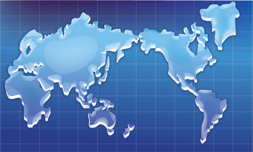 free vector Crystal texture of the world map vector