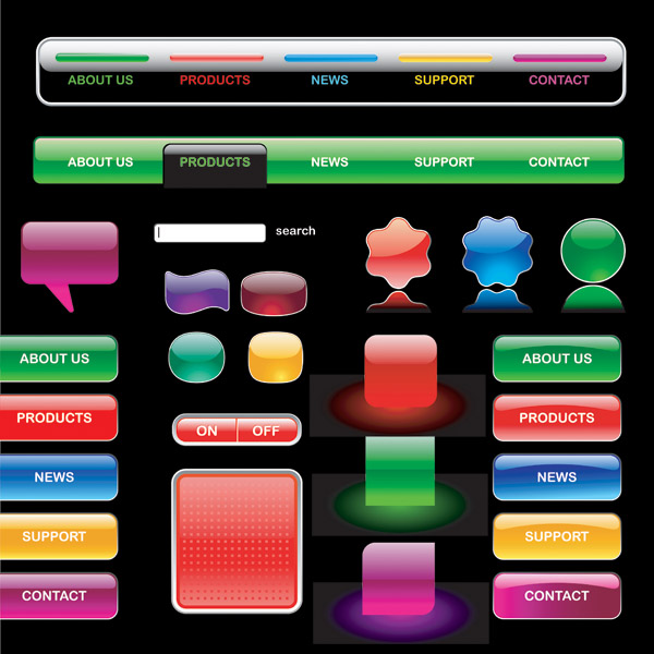 free vector Crystalstyle web buttons vector 1