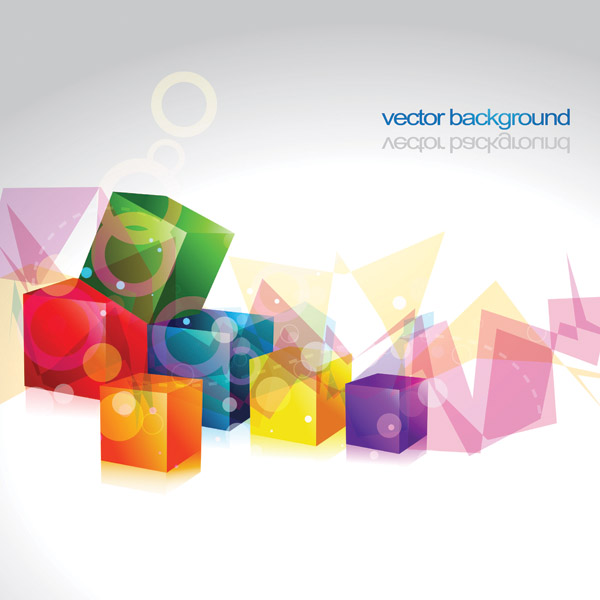 free vector Cube and ball vector graphic