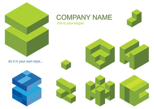 free vector Cube logo vector graphic