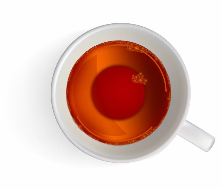 free vector Cup of black tea