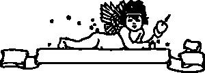 free vector Cupid Banner clip art