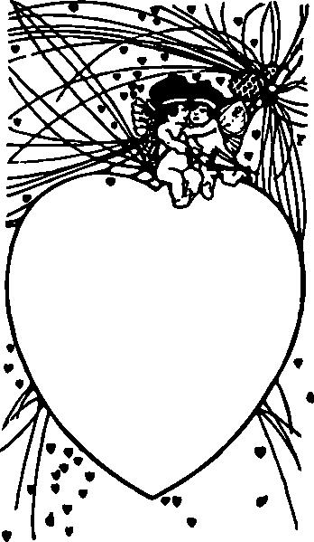 free vector Cupid Frame clip art