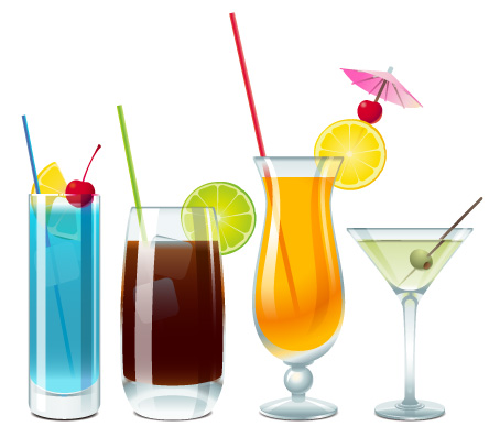 free vector Cups drinks vector material
