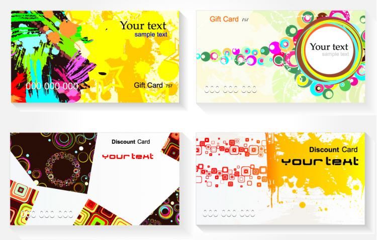 free vector Current card template ii vector