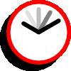 free vector Current Event Clock clip art