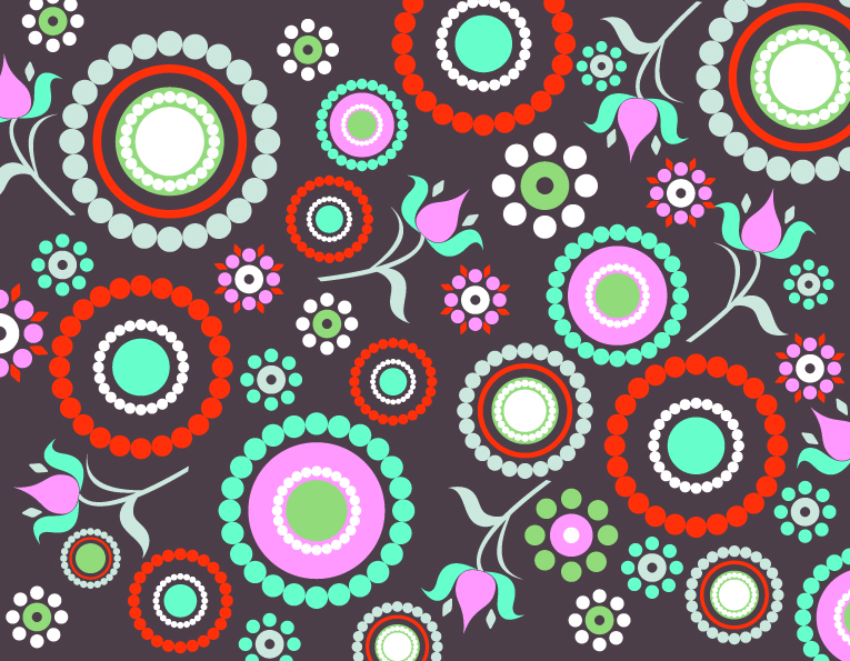 free vector Current round polka dot background vector
