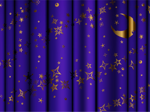 free vector Curtain background vector