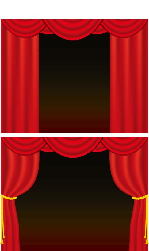 free vector Curtain vector