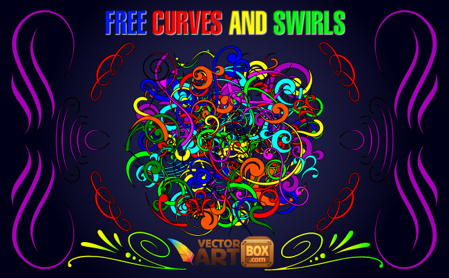 free vector Curves and Swirls Clip Art