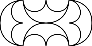 free vector Curves Anglo Roman 2 Pattern clip art