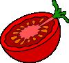 free vector Cut Tomato clip art