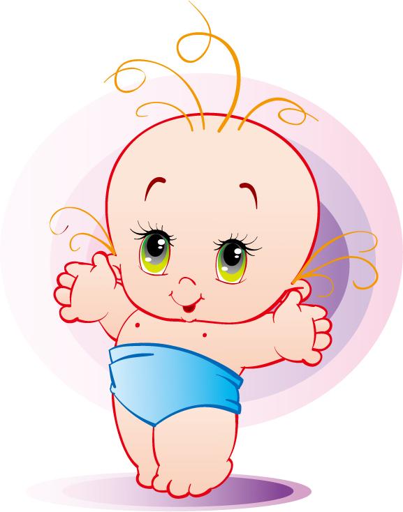 free vector Cute baby vector