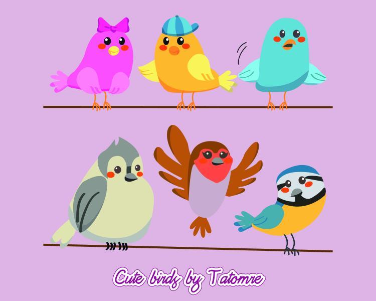 free vector Cute Bird Vectors!!!