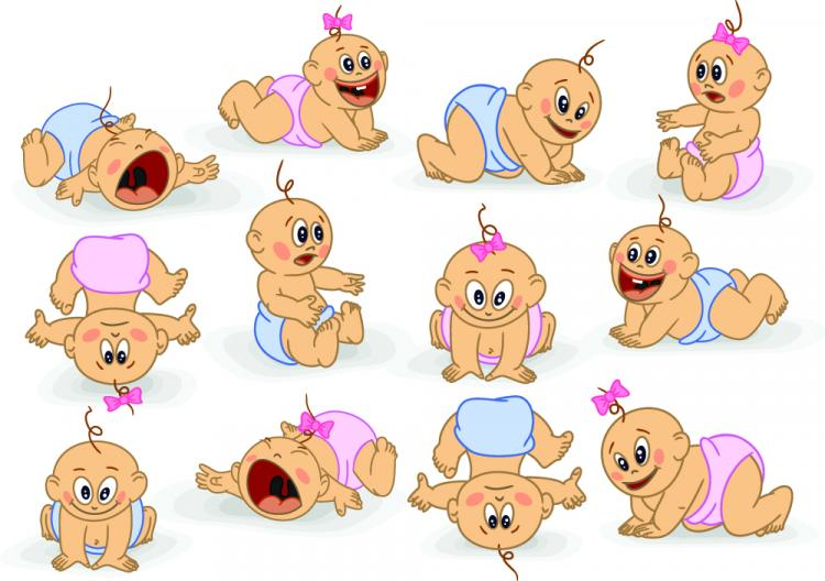 free vector Cute cartoon baby 03 vector
