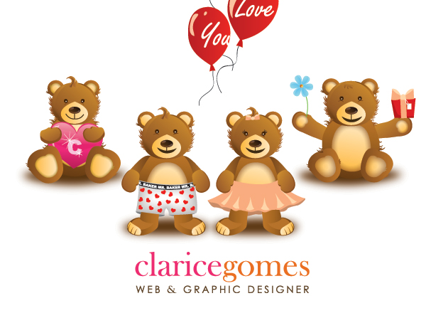 free vector Cute cartoon bear clip art