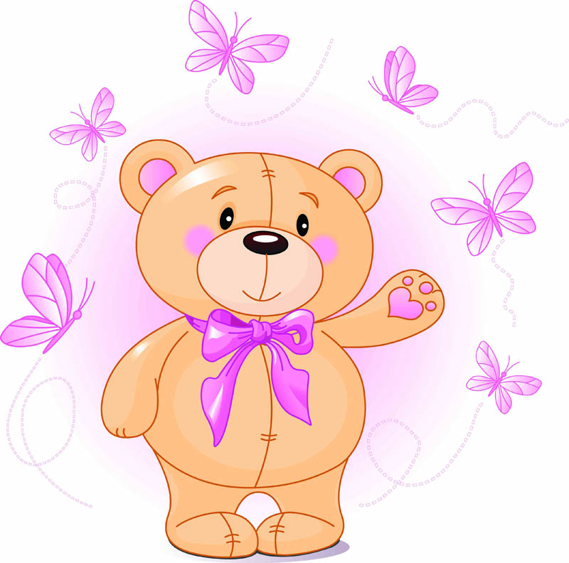free vector Cute cartoon bear vector