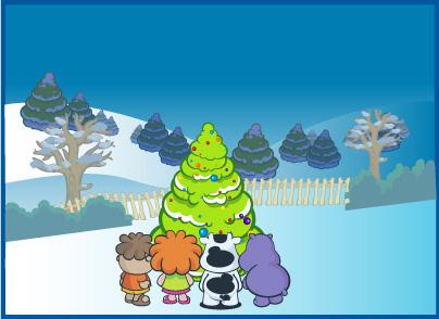 free vector Cute cartoon characters Cowco Christmas vector subject material