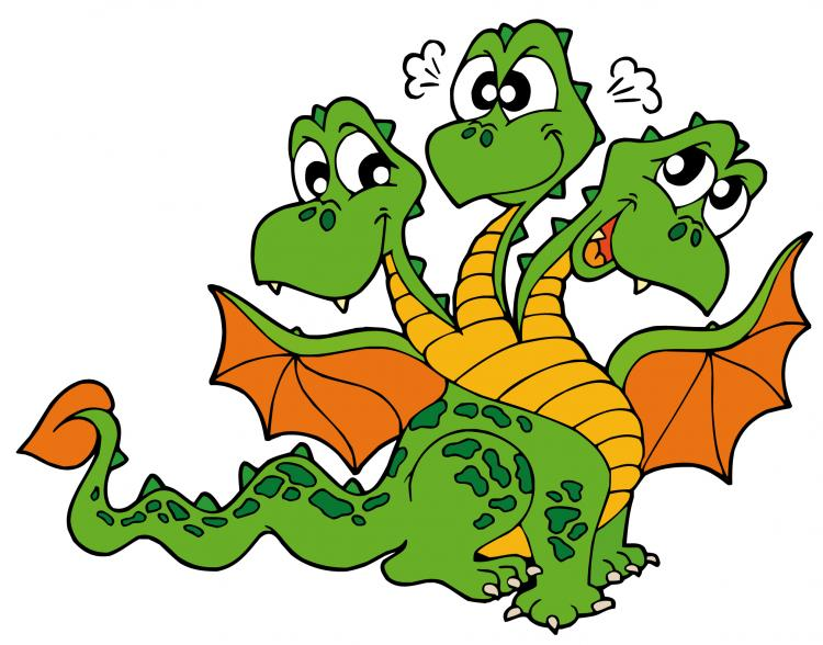 free vector Cute cartoon dragon 02 vector