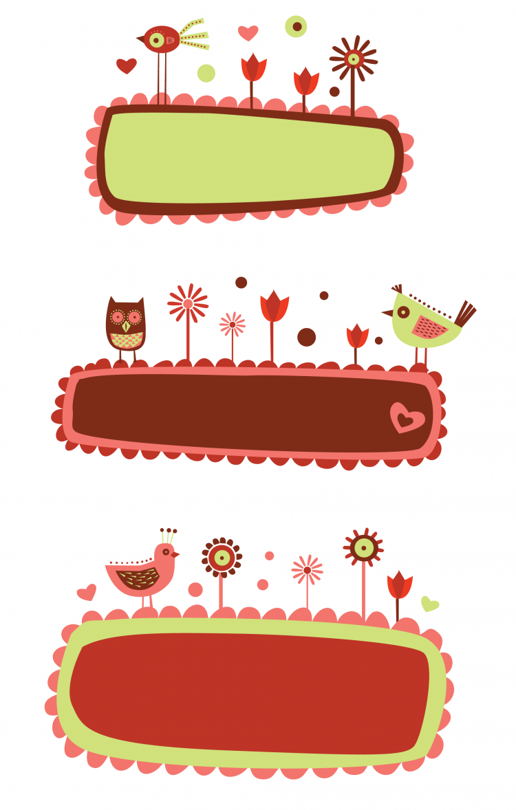 free vector Cute cartoon illustration vector